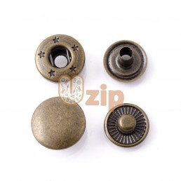 Кнопка 54 размер 15 мм антик золото