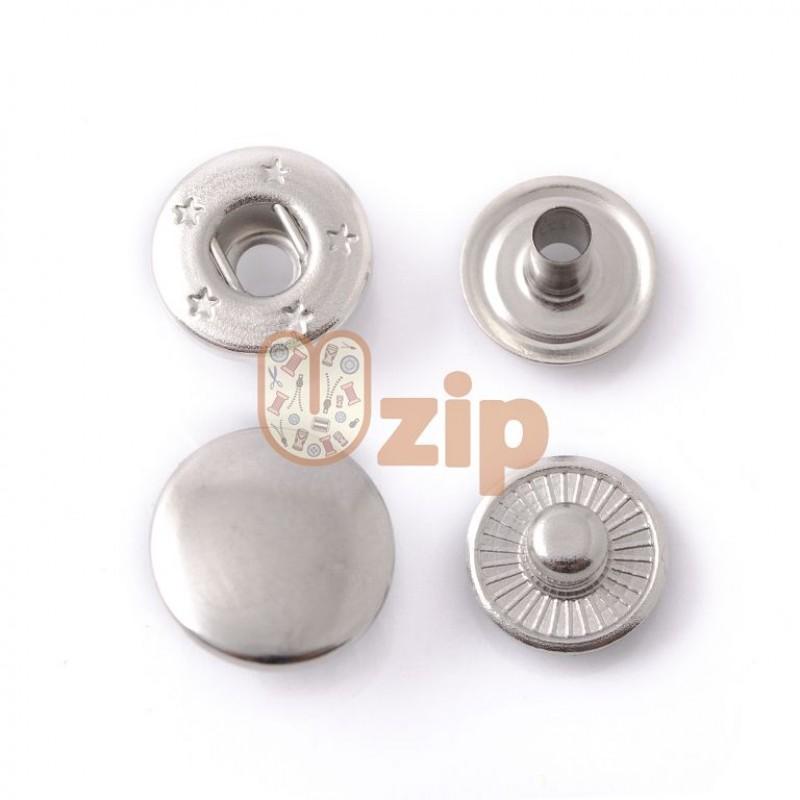 Кнопка 54 размер 15 мм никель