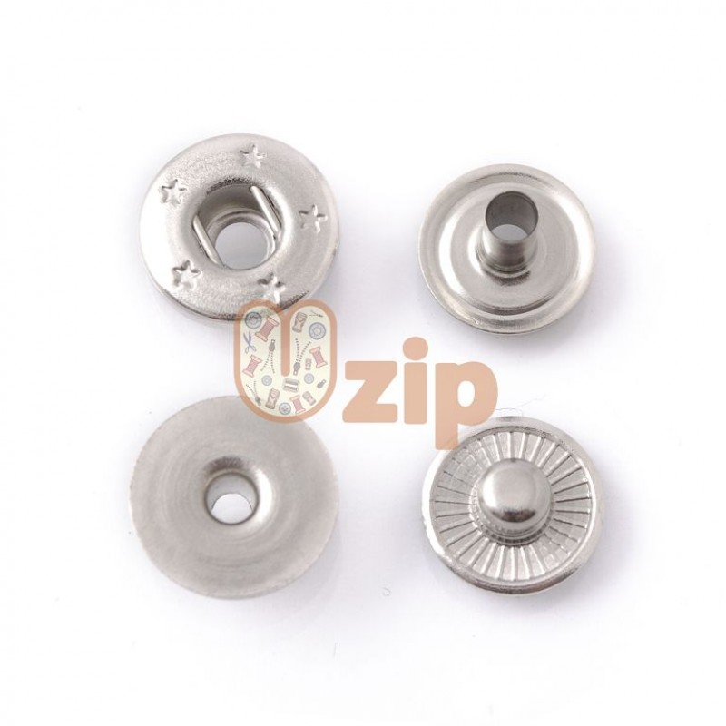 Кнопка потайная 54 размер 12 мм никель