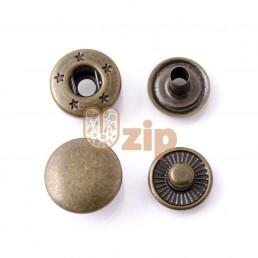 Кнопка 54 размер 12,5 мм антик золото