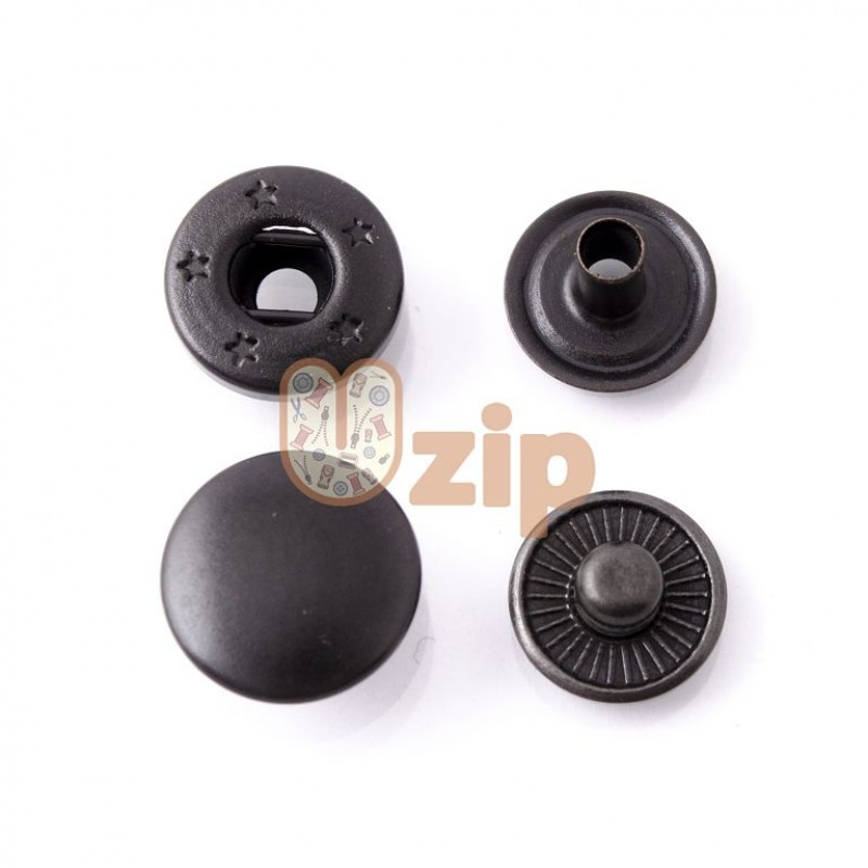 Кнопка 54 размер 12,5 мм черный мат